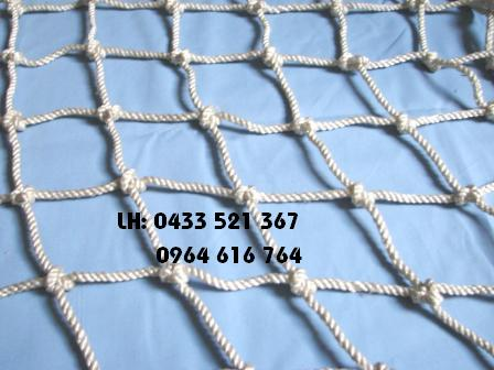 Lưới an toàn mắt 10 x 10 cm đường kính sợi Ø 8